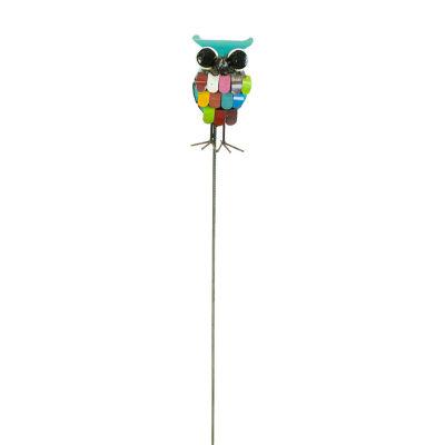 Rustic Arrow Owl With Stake Figurine