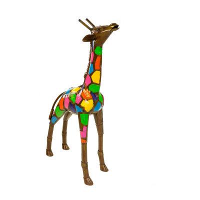 Rustic Arrow Colored Giraffe Figurine