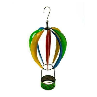 Rustic Arrow Spinning Hot Air Balloon Figurine