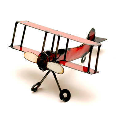 Rustic Arrow Airplane Figurine