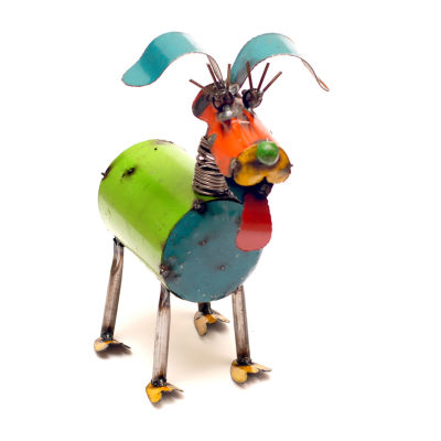 Rustic Arrow Fido Spring Neck Dog Figurine