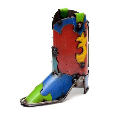 Rustic Arrow Boot Figurine