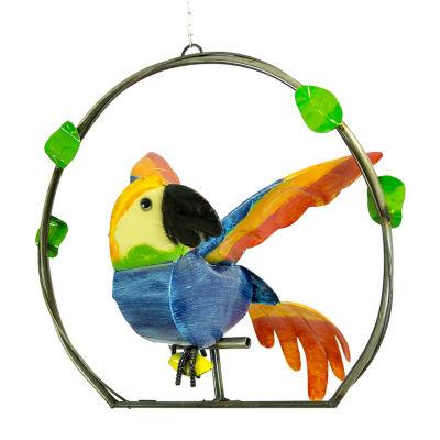 Rustic Arrow Macaw On Ring Figurine