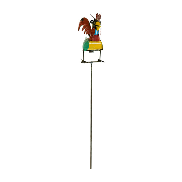 Rustic Arrow Rooster Stake Figurine