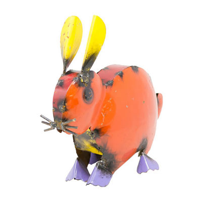 Rustic Arrow Rabbit Figurine