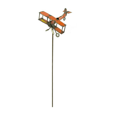 Rustic Arrow Airplane On Stick Figurine