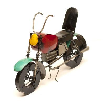 Rustic Arrow Motorcycle Figurine
