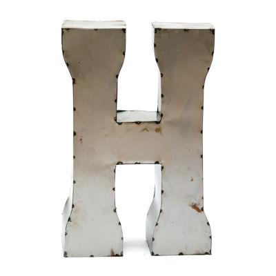 """Rustic Arrow Letter H 14"""" Letter Block"""""""