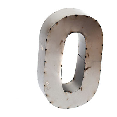"Rustic Arrow Letter O 14"" Letter Block"""