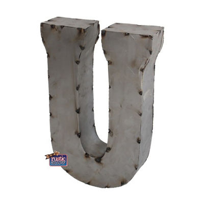 "Rustic Arrow Letter U 14"" Letter Block"""