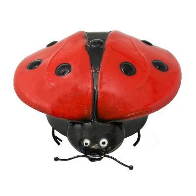 Rustic Arrow Ladybug Figurine