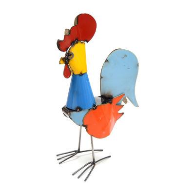 Rustic Arrow Rooster Figurine