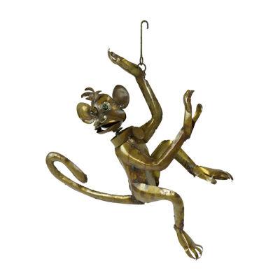 Rustic Arrow Hanging Monkey Figurine