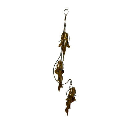 Rustic Arrow Chain With 3 Fishes Figurine