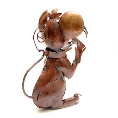 Rustic Arrow Mouse With Cheese Rustic Finish Figurine
