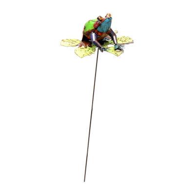 Rustic Arrow Frog On Stake Figurine