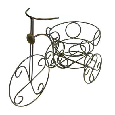 Rustic Arrow Tricycle With Rings Planter