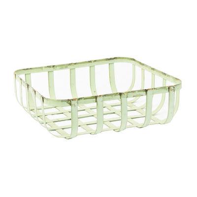 Rustic Arrow Sill Basket Square Planter