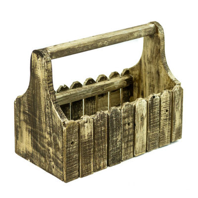 Rustic Arrow Wooden Open Tool Box Figurine