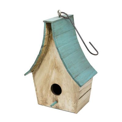 Rustic Arrow Tempale Wooden Bird House Figurine
