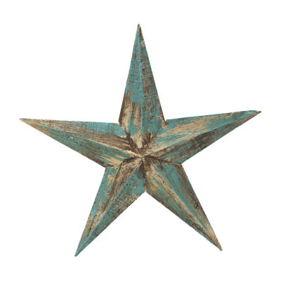Rustic Arrow Wooden Blue Star Tabletop Decor