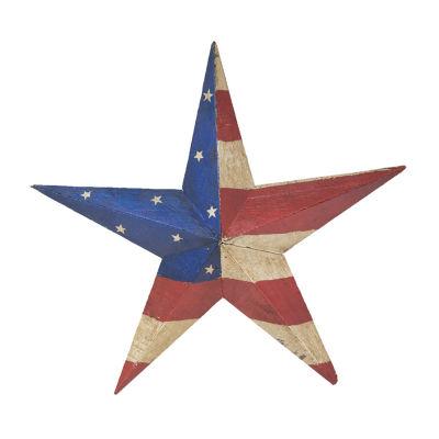 Rustic Arrow Usa 3D Wooden Star Tabletop Decor