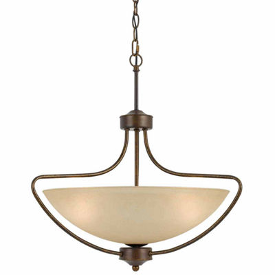 "Wooten Heights 22.88"" Inch Pendant Fixture in Rust"