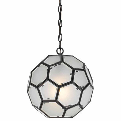 "Wooten Heights 12"" Inch Tall Glass Pendant in Glass Finish"