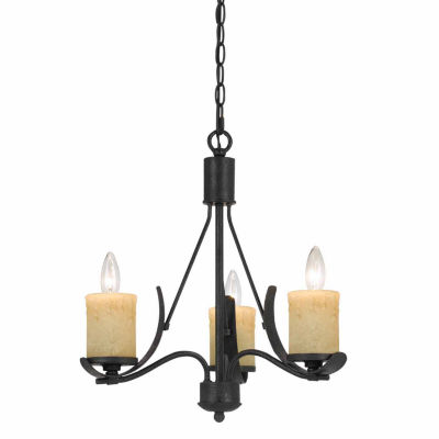 "Invogue Lighting 18"" Tall Metal Chandelier in Black Smith Finish"