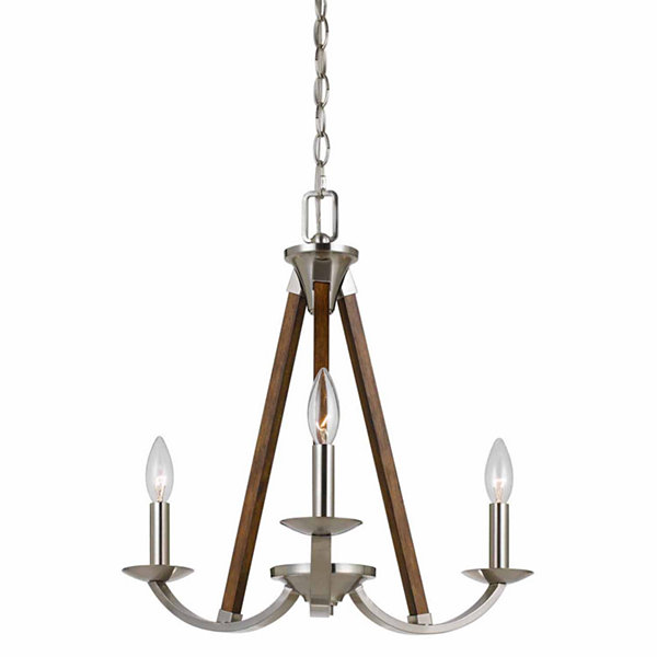 Invogue Lighting 18.38 Inch Tall Metal Chandelierin Brushed Steel Finish