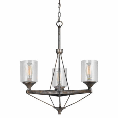 "Invogue Lighting 28"" Inch Metal Chandelier in Textured Steel"