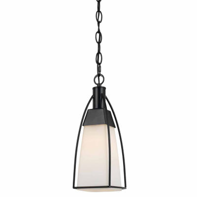 "Wooten Heights 13.3"" Inch Metal Pendant in Black Finish"