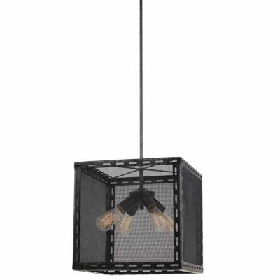 Invogue Lighting 16 Inch Tall Metal Chandelier in Iron Finish