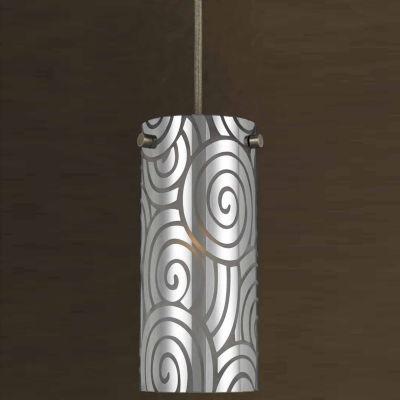 "Wooten Heights 7.4"" Tall Metal Pendant in Rust"