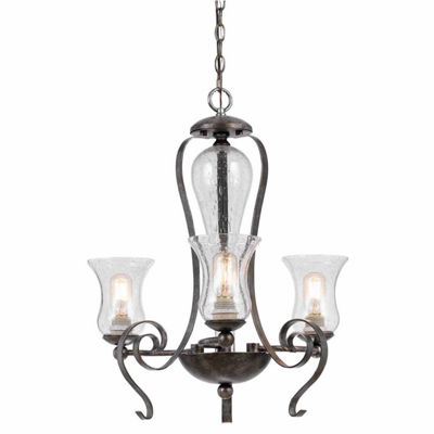 Invogue Lighting 25 Inch Tall Metal Chandelier in Eternity Finish