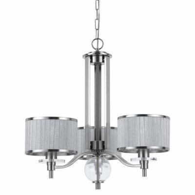 "Invogue Lighting 22.25"" Three Light Chandelier in Brushed Steel"