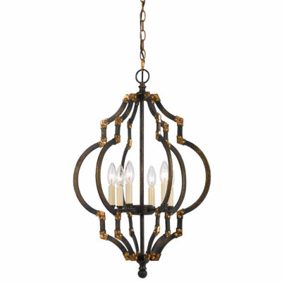 Wooten Heights 27.5 Inch Tall Metal Pendant in Iron Antique Gold Finish