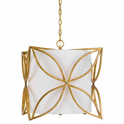 Invogue Lighting 19.5 Inch Metal Chandelier in French Gold