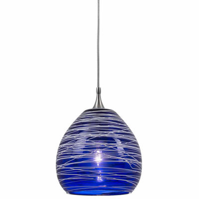 "Wooten Heights 4.7"" Tall Glass and Metal Pendant"