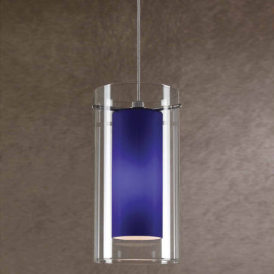 """Wooten Heights 7.9"""" Tall Glass and Metal Pendant with Brushed Steel"""