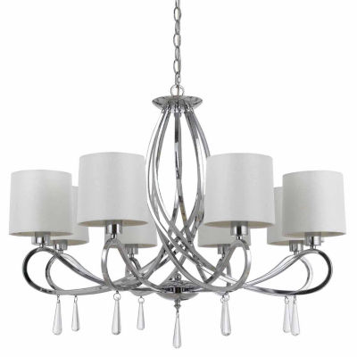 Invogue Lighting 24.25 Inch Tall Metal Chandelier in Chrome Finish