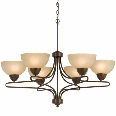 "Invogue Lighting 27.50"" Six Light Chandelier in Rust"