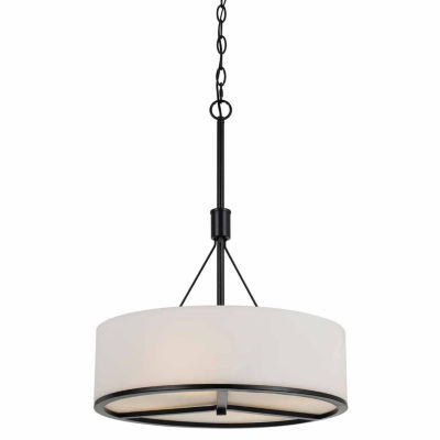 Invogue Lighting 26.5 Inch Metal and Glass Chandelier in Black Finish