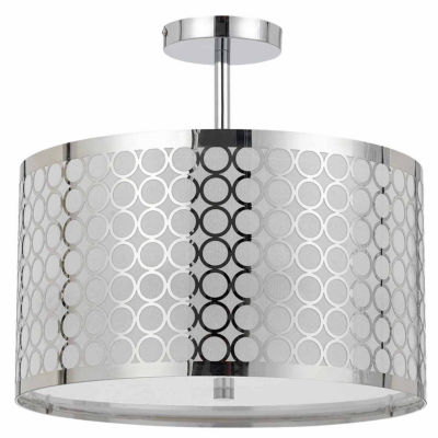 "Wooten Heights 14.75"" Inch Semi Flush Pendant in Chrome"
