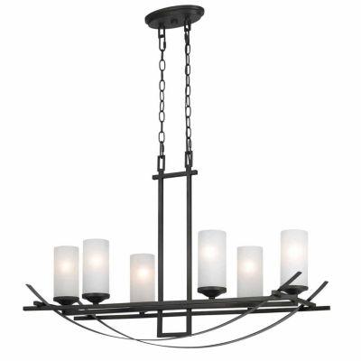 """Invogue Lighting 12.30"""" Height Metal Chandelier in Organic Black"""