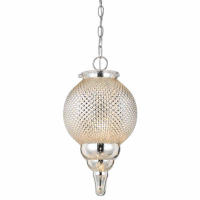 """Wooten Heights 16.5"""" Inch Tall Glass Pendant in Glass Finish"""