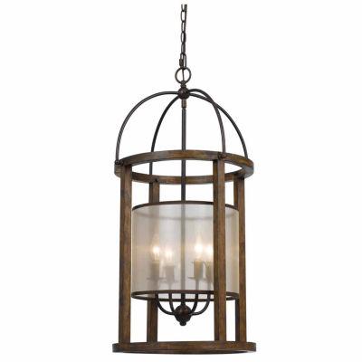 Invogue Lighting 33 Inch Four Light Lantern Chandelier in Dark Bronze