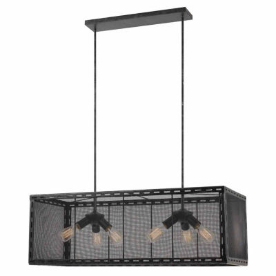 Invogue Lighting 14 Inch Tall Metal Chandelier in Iron Finish