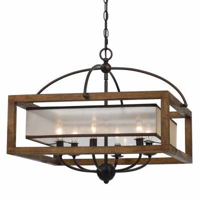 Invogue Lighting 20 Inch Square Chandelier in Dark Bronze