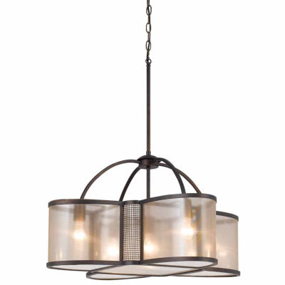 Invogue Lighting 16 Inch Tall Metal Chandelier in Bronze Finish
